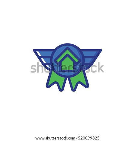 angel home icon vector