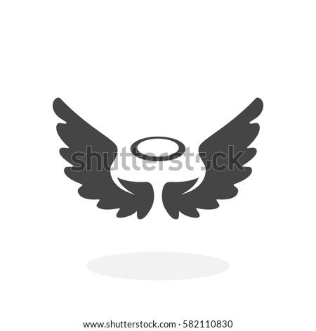 angel icon isolated on white