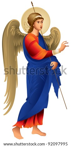 angel in vector  archangel