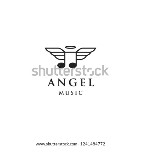 angel music logo icon template