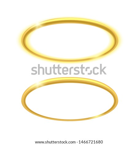 angel ring vector holy glowing