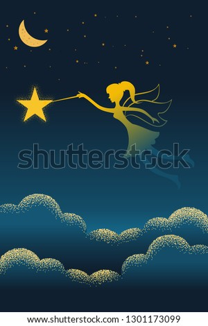 angel silhouette with