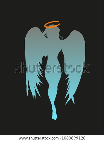 angel silhouette young