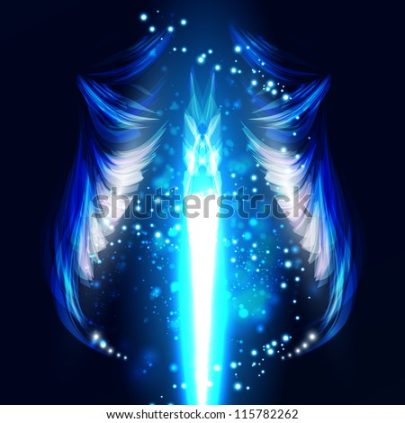 angel vector futuristic