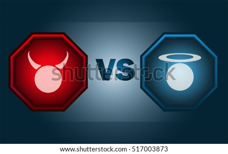angel vs devil screen  vector