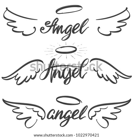 angel wings icon sketch