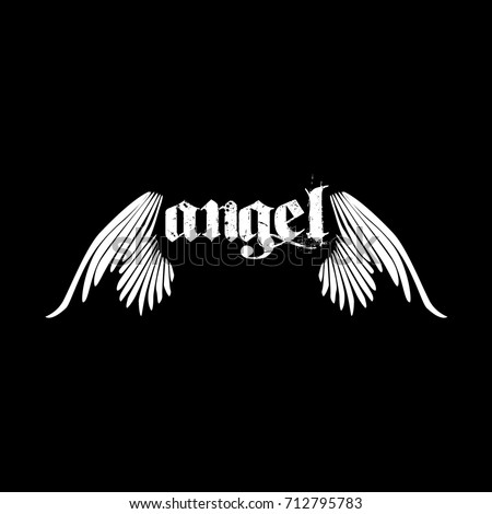 angel wings logo template