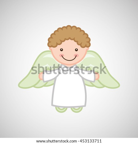 angel wings religion   isolated