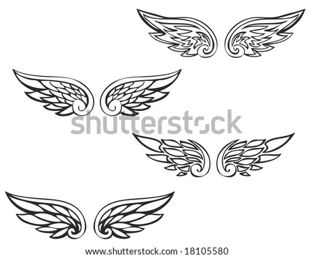 Tribal Angel Wing Tattoo - Tribal small angel wing tattoos