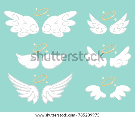 angel wings with gold nimbus