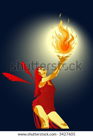 Angel With Fireball