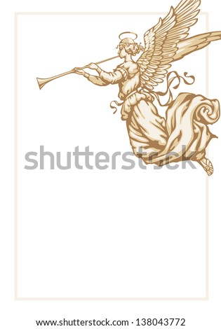 angel with trumpet   corner