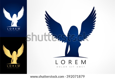 angel woman symbol vector