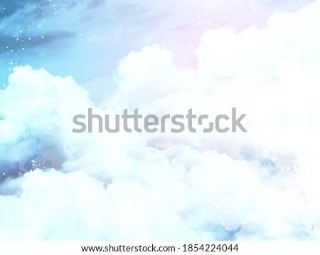 angelic heaven clouds vector