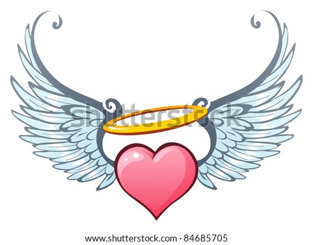 Angelic love - stock vector