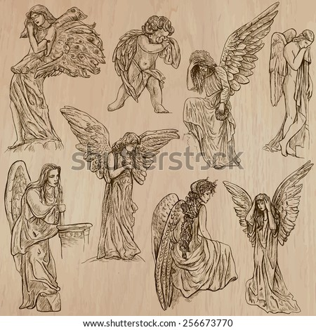 angels collection of an hand