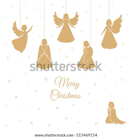 angels with simple wings on a