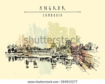 angkor wat  cambodia hindu
