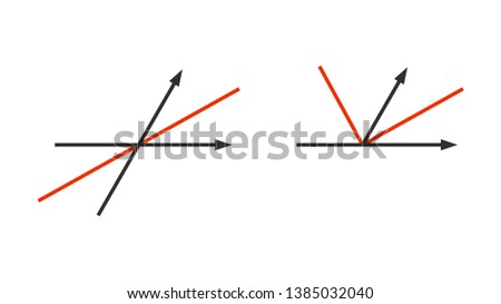 Angle bisector - a line that splits an angle into two equal angles