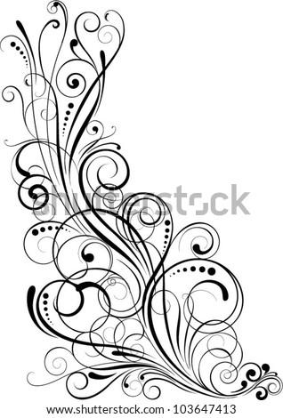 Angle black swirl design,black colored