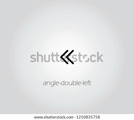 angle-double-left  icon vector
