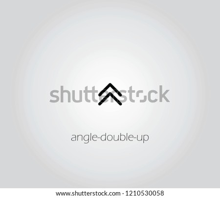 angle-double-up  icon vector