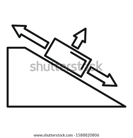 Angle object physics icon. Outline angle object physics vector icon for web design isolated on white background
