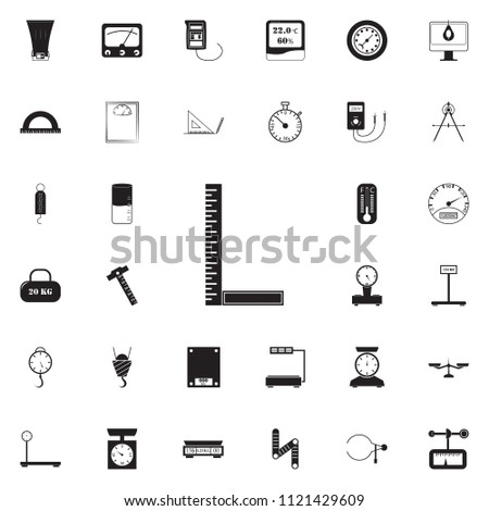 angle ruler icon. Detailed set of Measuring Elements icons. Premium quality graphic design sign. One of the collection icons for websites, web design, mobile app on colored background