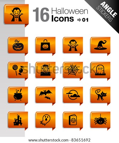 Angle Stickers - Halloween icons