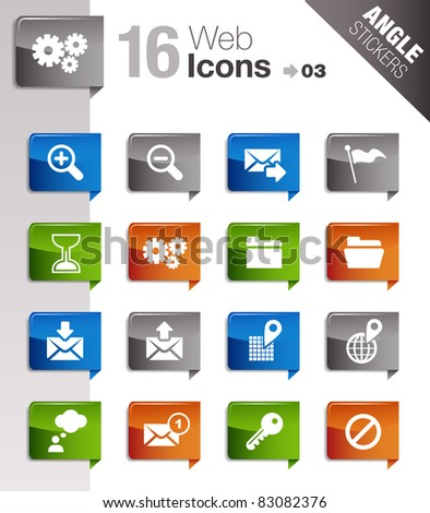 Angle Stickers - Website and Internet Icons