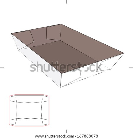 Angled Tray with Blueprint Layout