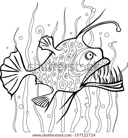 angler fish coloring page