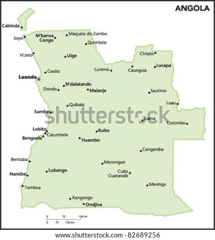 Angola Country Map