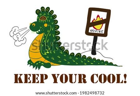 angry and cute dragon  keep