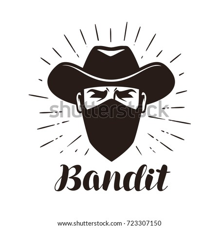angry bandit  gangster logo or