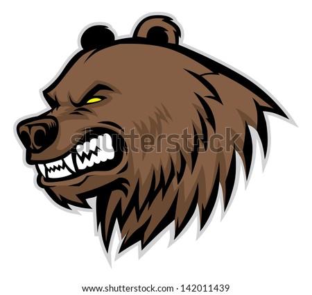 angry bear head mascot stock vector illustration 142011439