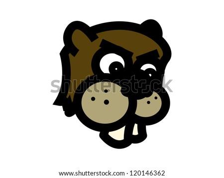 Angry Beaver Cartoon.