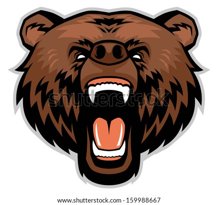 angry brown bear head