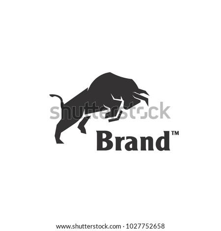 Angry Bull or Taurus Logo Mascot. Vector Illustration