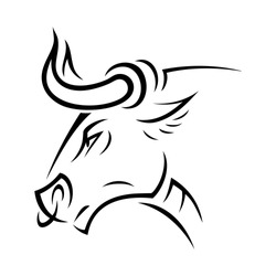Angry bull - vector illustration