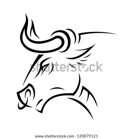 Angry bull - vector illustration