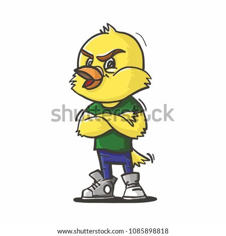 angry canary bird illustration