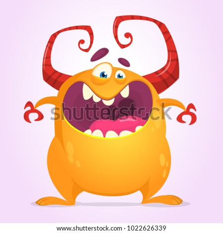 angry cartoon monster