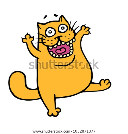 angry cartoon orange cat