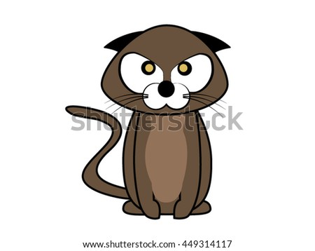 angry cat brown vector