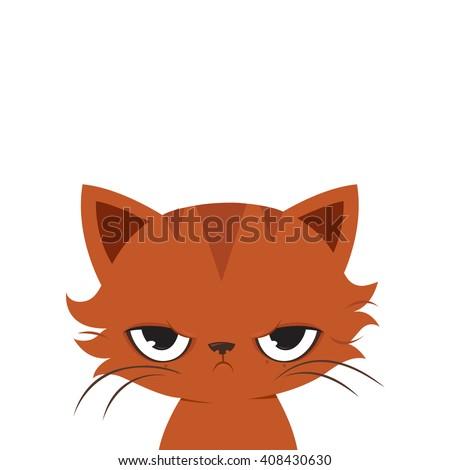 angry cat cartoon cute grumpy