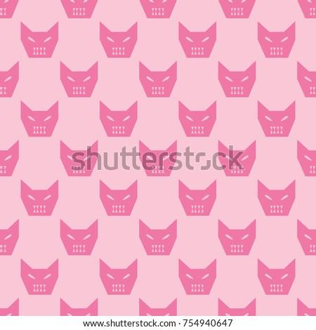 angry cat seamless pattern