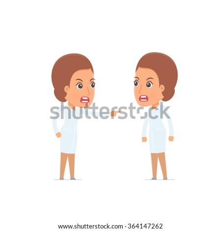 angry character nurse abuses
