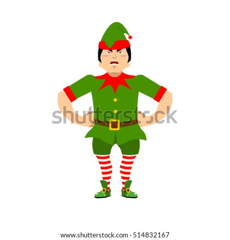 angry christmas elf aggressive