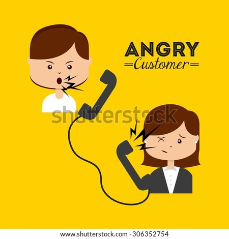 angry customer design  vector